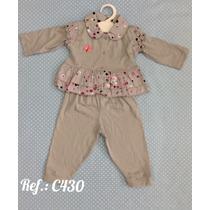 Conjunto Pagão Bebê Menina Em Algodão Gabriely Baby