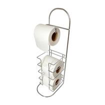 Porta Papel Higiênico Aço Cromado C/estoque Banheiro/lavabo