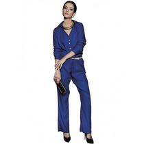 Macacão Azul Moderno Feminino Principessa Antonella
