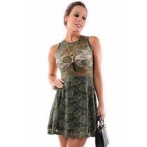 Vestido Feminino De Renda - Kam Bess - Ve0557