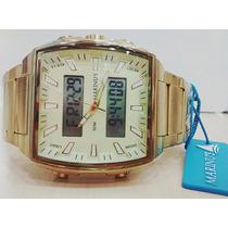 Relógio Atlantis Ana Digi Original Estilo Téchnos Legacy