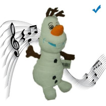 Boneco Disney Frozen Pelúcia Olaf Aperta Toca Música D Filme