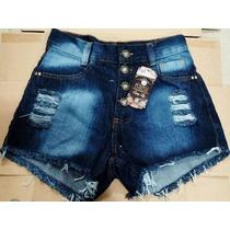Shorts Jeans Feminino Hot Pants Cintura Alta