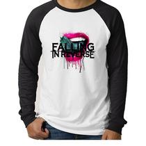 Camiseta Raglan- Falling In Reverse- Manga Longa.