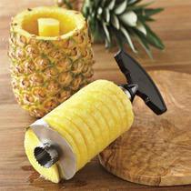 Descascador Fatiador E Cortador De Frutas Abacaxi Faz Drink