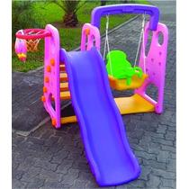Playground Infantil 2 Em 1 Balanco E Escorregador