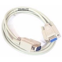 Cabo Vga X Vga Branco Serial Db9 Macho X Db9 Femea Rs232