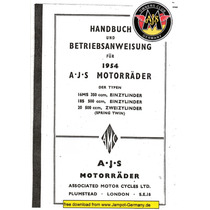 Manual De Serviço Moto - A.j.s. - 1954 - Em Pdf - Em Alemão