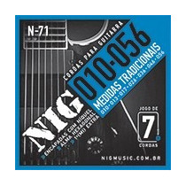 Encordoamento Nig Para Guitarra - 010 - 6 Cordas - N71