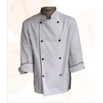 Dolmã Chef De Cozinha Avental Algodão Tecido Resistente
