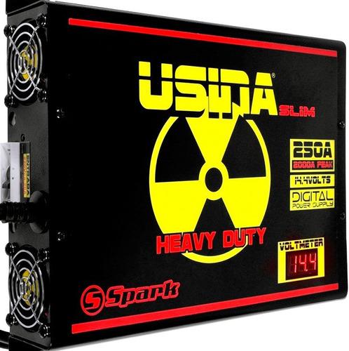 Fonte Spark Usina 250a Slim 14.4v Com Voltimetro