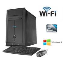 Cpu Intel Ddr3 Atom 1.8gz 320gb 2gb Wifi Grava+mouse+teclado