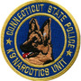 Patch Bordado K9 Narcotics Unit - Pl60344