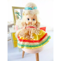 Antiga Boneca Fofolete Italiana Anos 60!!! Estrela Minidoll