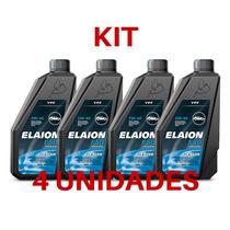 Kit 4 Oleo Motor Elaion Flexlub Sn 5w40 Sintético 1lt