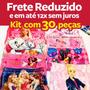 Kit De 30 Calcinhas Box Infantil Sublimadas Frente E Costas