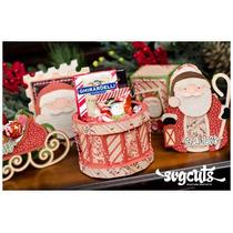 Kit Natal Papai Noel Trenó Feliz Christmas Svg Silhouette