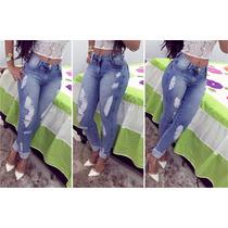 Calça Jeans Feminina - Calça Rasgada Skinny
