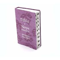 Bíblia Sagrada Harpa Cristã Letra Gigante Edição Promessas