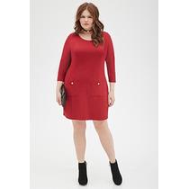 Vestido Plus Size Pocket Shift - Marca Forever 21
