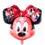Balão Metalizado Minnie Laço Vermelho - Kit Com 50 Unidades