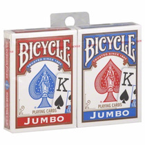 Baralho Bicycle Jumbo Vermelho Ou Azul 808 - Rider Back