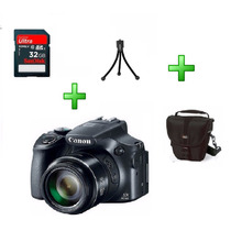 Canon Powershot Sx60 Hs Wi-fi 32gb Bolsa Tripé 63x Zoom