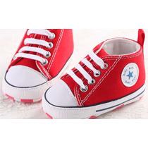 Sapatinho Sapato Tênis Bebe Cano Alto Importado Vermelho