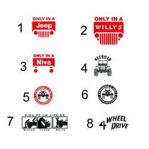 Adesivo Decorativo Jeep Niva Willy