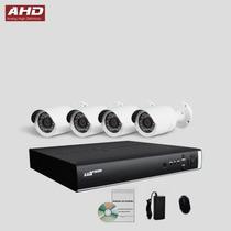 Kit Ahd Monitoramento Segurança Dvr Luxvision 4 Camera Cftv
