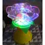 Luminaria Flor Colorido Led Giratoria Base Alto