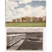 Brasilia-inaurugação 2 Postais Com Selo E Cbc-21-04-1960