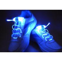 Cadarço Azul Led Style Luminoso Neon Para Tênis (par)