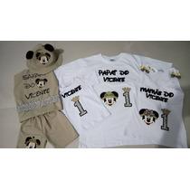 Fantasia Safari + Camiseta Pai E Mãe ( Mickey Safari)