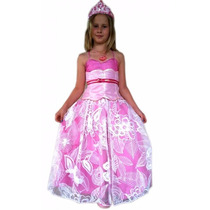 Fantasia Princesa Rosa Super Luxo