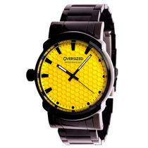 Relógio Masculino Oversized Knockout 45mm Dark+yellow