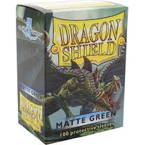 Dragon Shield Matte Green Protetores Sleeves Magic