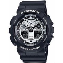 Relógio Casio G-shock Ga-100bw-1adr - Garantia Casio Brasil