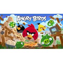 Big Painel De Festa Angry Birds - 2x1,50