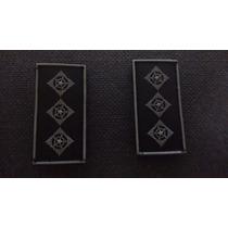 Distintivo Emborrachado Gola Capitão Polícia Militar Sp Par
