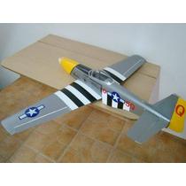 Kit Aeromodelo P51 Mustang Montado E Entelado