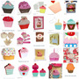 Silhouette Cupcake Bolo Suporte Wrapper Vela Aniversario