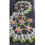 Trilho Ou Caminho De Mesa De Croche Com Flores De Loto