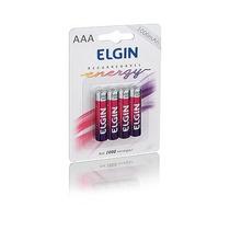 Pilhas Recarregável Aaa 1000 Mah C/4 82171 Elgin