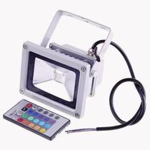 Refletor Holofote Super Led Rgb 10w Ip65 Com Controle