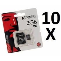 Kit 10 Cartão De Memória Micro Sd 2gb Kingston Lacrados