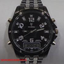 Relógio Masculino Dois Cronos Potenzia Digital E Analógico