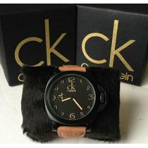 Relógio Masculino Social Pulso Couro Calvin Klein + Caixa Ck