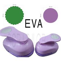 Furadores Eva E Papel Círculo Escalopado 5cm + Liso 3,8cm