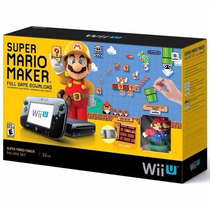 Nintendo Wii U 32gb Bundle Mario Maker Console